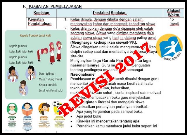 Rpp K13 Kelas 1 Revisi 2017 Kkg Senduro